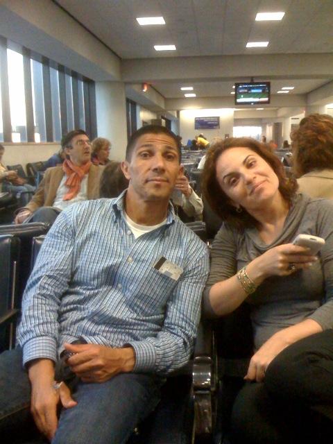 Ish and Shuly at Newark